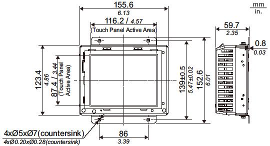 GP4000 Series External Dimensions