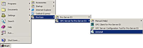 Cautions after setup OPC Server for Pro-Server EX Ver  1 00 000