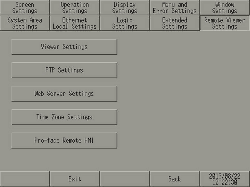 M 14 1 Setting the Remote Viewer Settings (GP-Viewer EX, Web Server