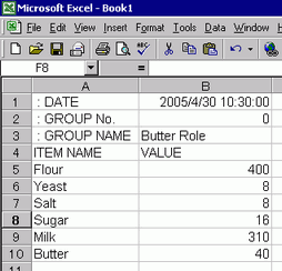 26 4 1 Procedure - Creating Recipes with Excel (CSV Data)