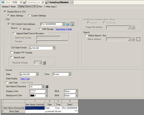 25 11 4 Display/Save in CSV