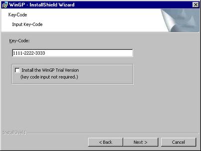 38 3 2 1 Install Procedure - WinGP